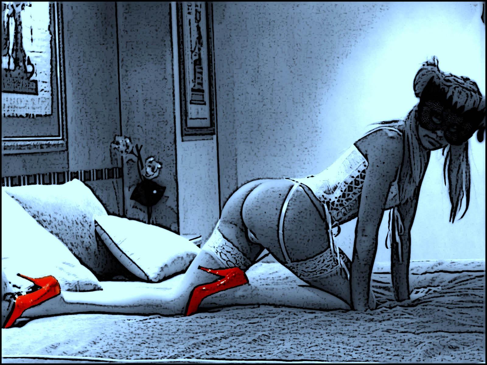 foto Euridice sexy en blanco y negro